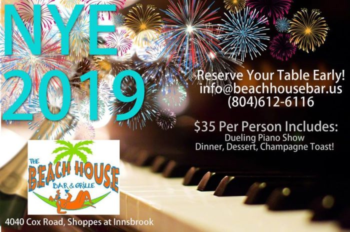 Dueling Pianos at Beach House Richmond - NYE